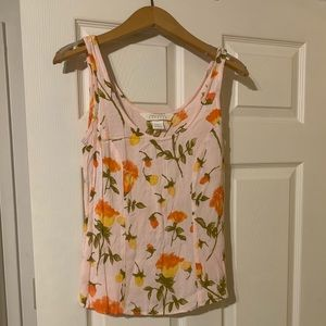 90s Express floral scoop neck tank